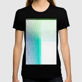 Multicolor digital thread woven in a quadrant T-shirt