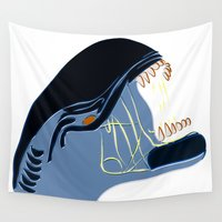 alien Wall Tapestries featuring Alien by Jessica Slater Design & Illustration