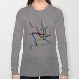 Washington D.C. Metro Long Sleeve T-shirt
