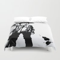 grimes Duvet Covers featuring Carl Grimes  by Black And White Store