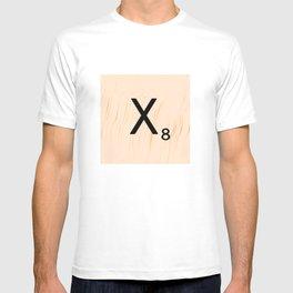 Scrabble Letter X - Scrabble Art and Apparel T-shirt
