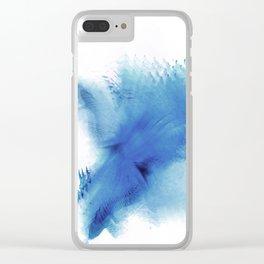 Royal Blue Blur Clear iPhone Case