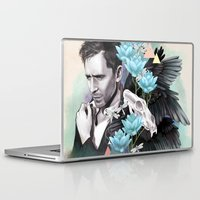 tom selleck Laptop & iPad Skins featuring Tom Hiddleston by Yan Ramirez