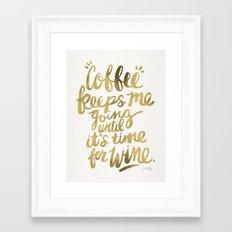 Coffee & Wine – Gold Framed Art Print