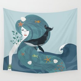 Aquatic Life of a Seaflower Wall Tapestry