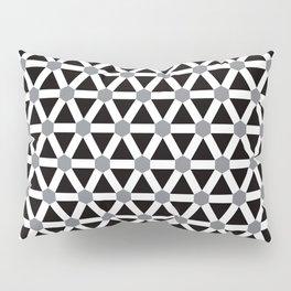 Geometric Pattern 176 (gray triangle grid) Pillow Sham