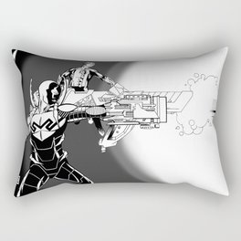 Blue Beetle and Green Lantern Rectangular Pillow