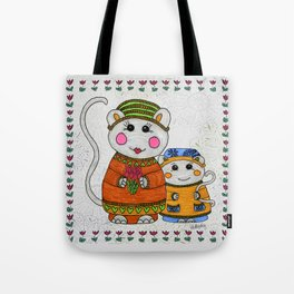 Mama & Baby Mouse Tote Bag