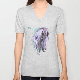 Purple Horse Unisex V-Neck