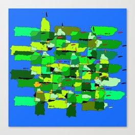 100 x 35 Verde Canvas Print