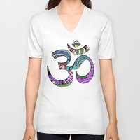 ohm V-neck T-shirts featuring Ohm by Ilse S
