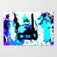match stick in ice Canvas Print