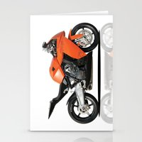 motorbike Stationery Cards featuring KTM RC8 motorbike by cjsphotos