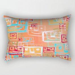 Many Faces Rectangular Pillow