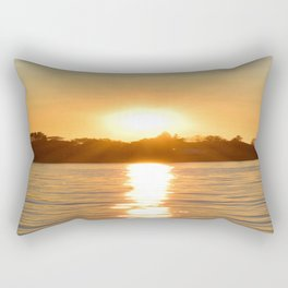 Sunset on the Bay Rectangular Pillow