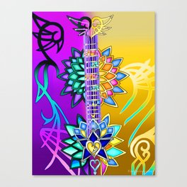 Fusion Keyblade Guitar #3 - Ultima Weapon (KH1) & Combined Keyblade Canvas Print