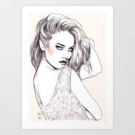 On fire Art Print