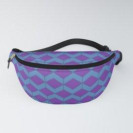 Purple Blue Moroccan Tile Pattern Fanny Pack