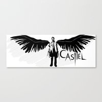 castiel Canvas Prints featuring Castiel by Mad42Sam