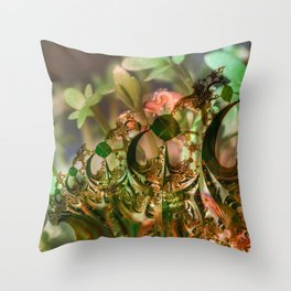 Natural and fractal seedlings Throw Pillow