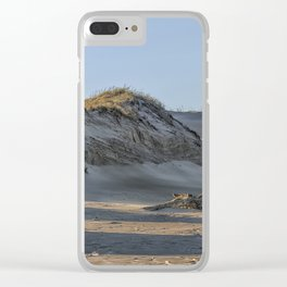 Sand dunes at the beach Clear iPhone Case