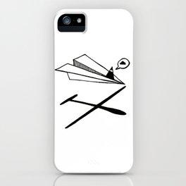 Ninja flies a Paper Plane iPhone Case