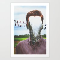 indie Art Prints featuring Indie Collage by NicoleMitchell