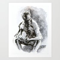 clint eastwood Art Prints featuring Clint Eastwood by onez