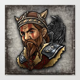 Viking | Warrior Raven Odin Walhalla Valknut Loki Canvas Print