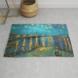 Starry Night Over the Rhone River by Vincent van Gogh Rug