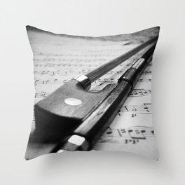 Violin Bow Throw Pillow