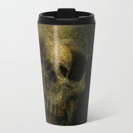 Double Exposure Skulls Photograph Travel Mug