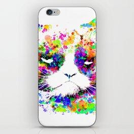 A grumpy pussy cat iPhone Skin