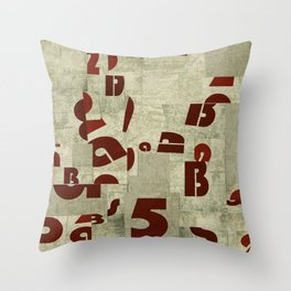 Absract Collage Throw Pillow