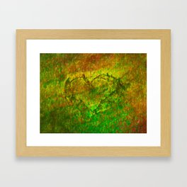 The Heart - Painting by Brian Vegas Framed Art Print