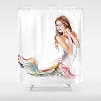 fairy Shower Curtains featuring fairy by tatiana-teni