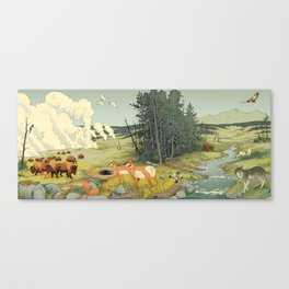 National Parks: Yellowstone Canvas Print