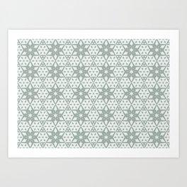 Stars and Hexagons Pattern - Ancient Stone Art Print