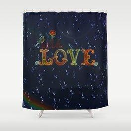 Love drops Shower Curtain