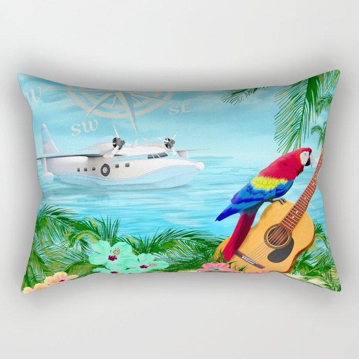 Tropical Travels Rectangular Pillow