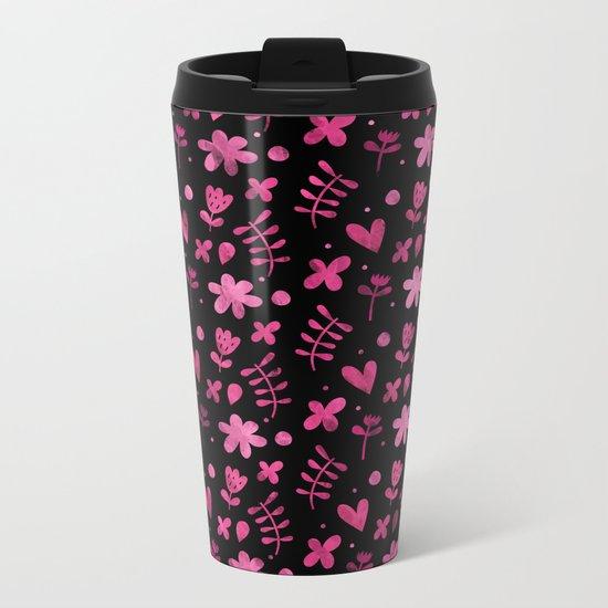 Colorful Lovely Pattern VIII Metal Travel Mug