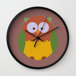 Owl 3 Wall Clock