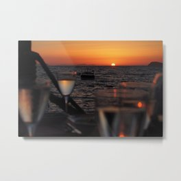 romantic meal in sunset Metal Print