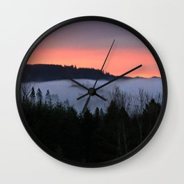 February Morning Sunrise Wall Clock