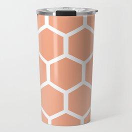 Honeycomb pattern - dusty pink Travel Mug