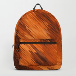 brown orange and dark brown painting texture abstract background Backpack