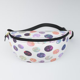 Modern watercolor splatters polka dots pattern Fanny Pack
