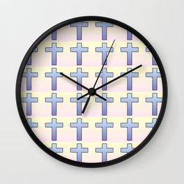 Christian Cross 47 Wall Clock