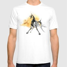 cool sketch 99 White Mens Fitted Tee MEDIUM