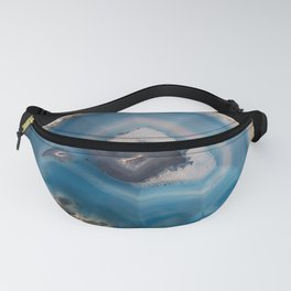 Blue Geode Fanny Pack